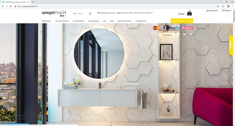 Spiegelshop24 gambio shop