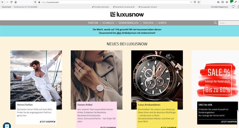 luxusnow gambio shop